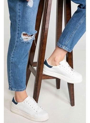 DeFacto Kalın Tabanlı Spor Ayakkabı Beyaz